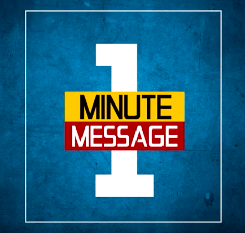 one minute message image
